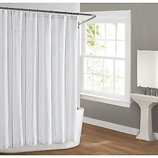 Pem America Cottage Classics Warm Hearth Stripe Shower Curtain, , large