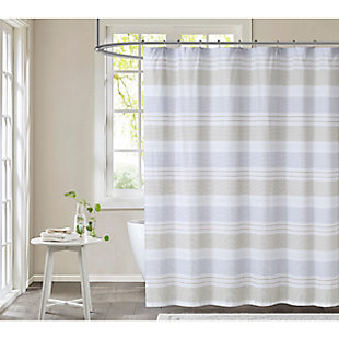Pem America Cottage Classics Spa Stripe Shower Curtain, , large