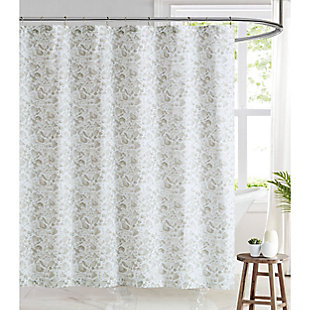 Pem America Brooklyn Loom Jasper Shower Curtain, , rollover
