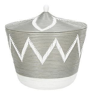 Safavieh Santori Rattan Jar Basket, , large