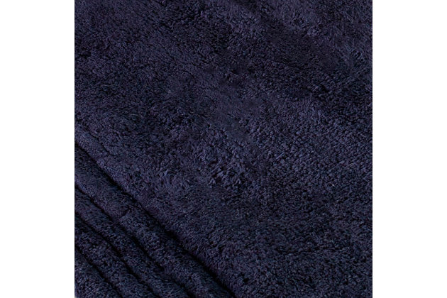 Safavieh SpaPlush Pencil Stripe Bath Mats (Set of 2), Navy, large