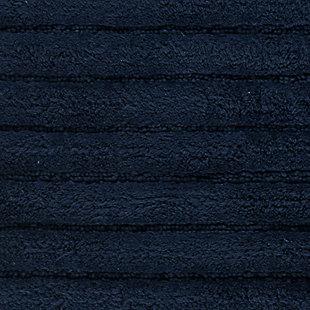 Safavieh SpaPlush Channel Stripe Bath Mats (Set of 2), Navy, large