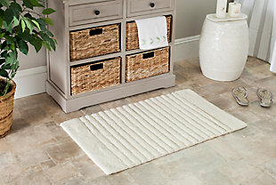 Safavieh SpaPlush Channel Stripe Bath Mats (Set of 2), Natural, rollover
