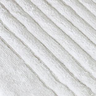 Safavieh SpaPlush Channel Stripe Bath Mats (Set of 2), White, large