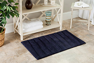 Safavieh SpaPlush Regatta Bath Mats (Set of 2), Navy, rollover