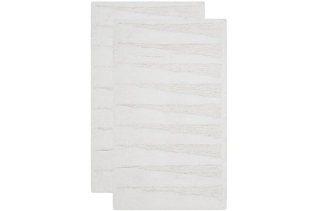 Safavieh SpaPlush Regatta Bath Mats (Set of 2), White, large