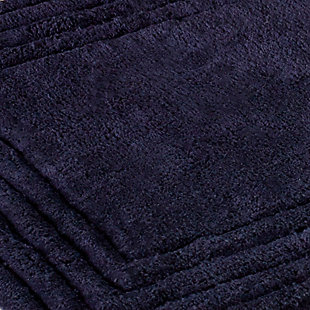 Safavieh SpaPlush Luxe Stripe Bath Mats (Set of 2), Navy, large