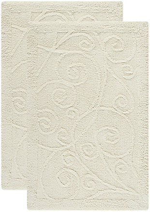 Safavieh SpaPlush Vine Scroll Bath Mats (Set of 2), , large