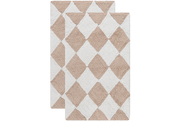 Safavieh SpaPlush Harlequin Bath Mats (Set of 2), , large