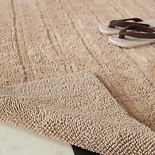 Safavieh Spa Stripe Tufted Bath Mats (Set of 2), Camel, large