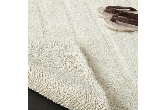 Safavieh Spa Stripe Tufted Bath Mat, Vanilla, large