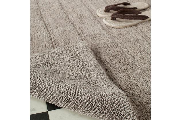 Safavieh Spa Stripe Tufted Bath Mat, Gray, large