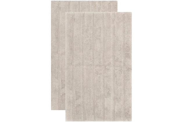 Safavieh Spa Stripe Tufted Bath Mat, Gray, large