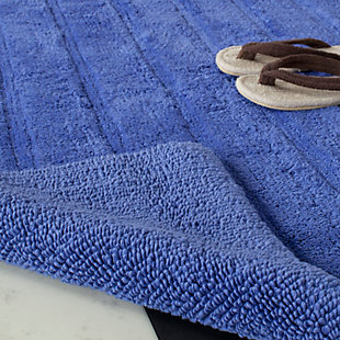 Safavieh Spa Stripe Tufted Bath Mat, Indigo, rollover