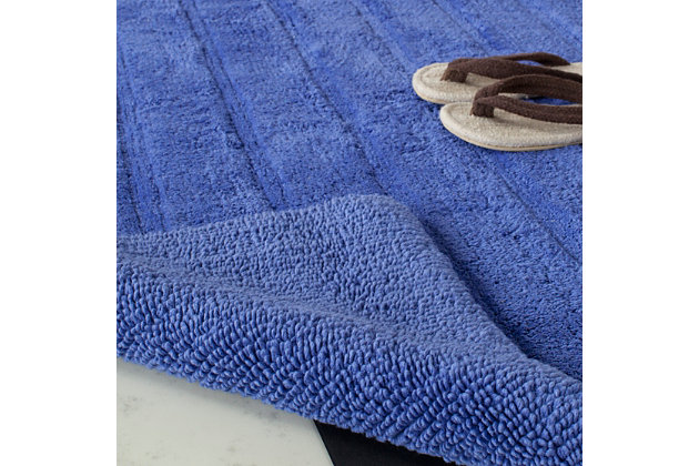 Safavieh Spa Stripe Tufted Bath Mat, Indigo, large