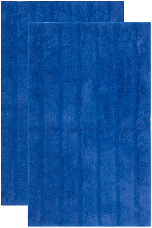 Safavieh Spa Stripe Tufted Bath Mat, Indigo, large