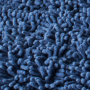 Safavieh Riviera Solid-Stripe Tufted Bath Mats (Set of 2), Marine Blue, large