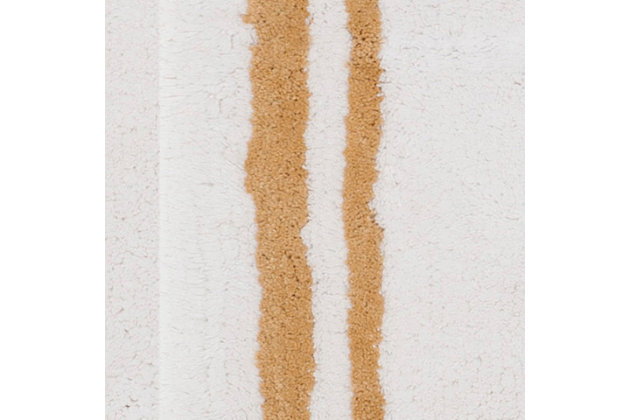 Safavieh Candy Stripes Tufted Plush Bath Mat, Beige, large