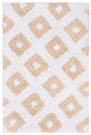 Safavieh Diamond Tufted Bath Mats (Set of 2), Winter Wheat, large