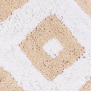 Safavieh Diamond Tufted Bath Mats (Set of 2), Winter Wheat, large