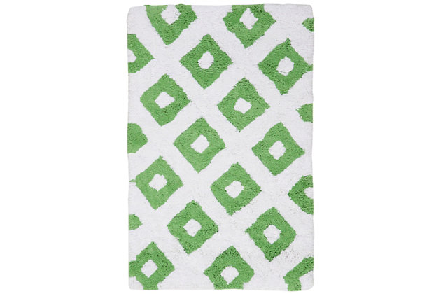 Safavieh Diamond Tufted Bath Mats (Set of 2), Key Lime, large