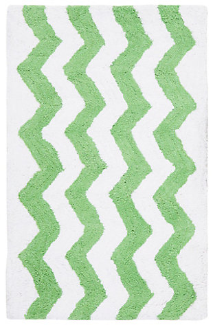 Safavieh Chevron Tufted Bath Mats (Set of 2), Key Lime, large