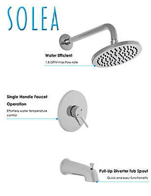 Safavieh Evoke Square Bathtub and Shower Faucet Set, , large