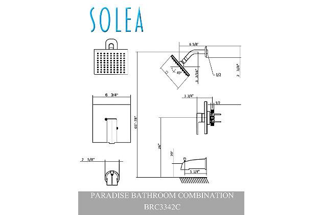 Safavieh Paradise Round Bathtub And Shower Faucet Set, , large