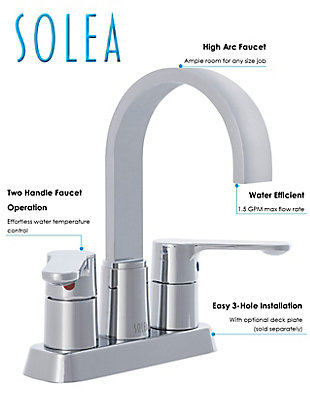 Safavieh Compose Centerset Dual Handle Bathroom Faucet, , rollover