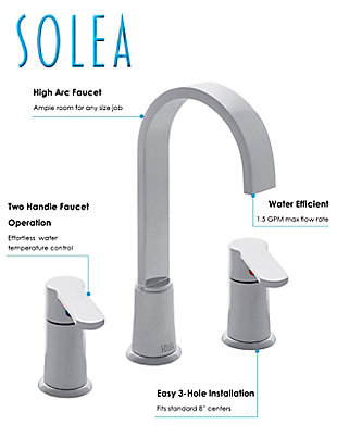 Safavieh Placid Widespread Dual Handle Bathroom Faucet, , rollover