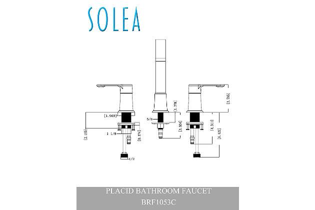 Safavieh Placid Widespread Dual Handle Bathroom Faucet, , large