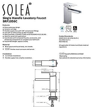 Safavieh Balance Single Handle Bathroom Vessel Faucet, , large