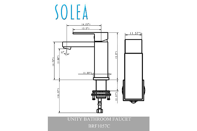 Safavieh Unity Single Handle Bathroom Vessel Faucet, , large
