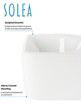 Safavieh Fen Porcelain Ceramic Vitreous Rectangular Bathroom Vessel Sink, , large