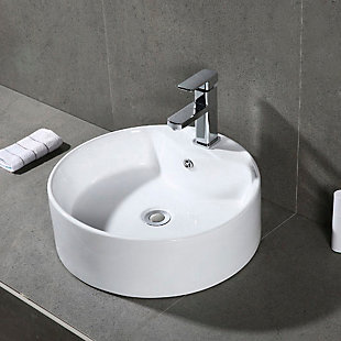 Safavieh Mira Porcelain Ceramic Vitreous Oval Bathroom Vessel Sink, , rollover