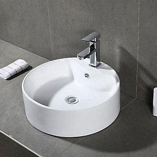 Safavieh Mira Porcelain Ceramic Vitreous Oval Bathroom Vessel Sink, , rollover