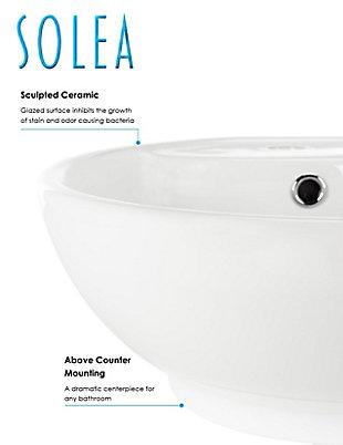 Safavieh Kai Porcelain Ceramic Vitreous Round Bathroom Vessel Sink, , large