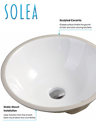Safavieh Nerida Porcelain Ceramic Vitreous Round Bathroom Sink, , rollover