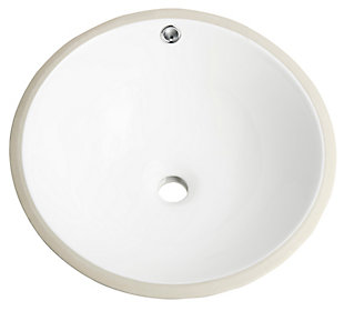 Safavieh Nerida Porcelain Ceramic Vitreous Round Bathroom Sink, , large