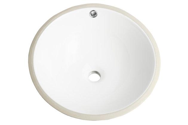Safavieh Nerida Porcelain Ceramic Vitreous Round Bathroom Sink, , large
