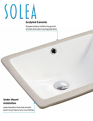 Safavieh Seaton Porcelain Ceramic Vitreous Bathroom Sink, , rollover