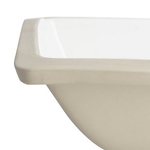 Safavieh Seaton Porcelain Ceramic Vitreous Bathroom Sink, , large