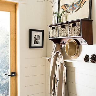 Safavieh Finley Hanging 3 Basket Wall Rack, , rollover