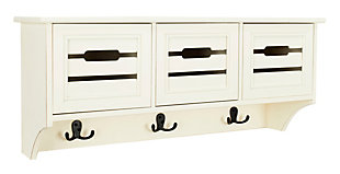 Safavieh Leon Hanging 3 Drawer Wall Rack, White, large