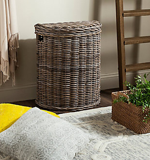 Safavieh Damari Wicker Storage Hamper, , rollover