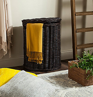 Safavieh Manzu Wicker Hamper, , rollover