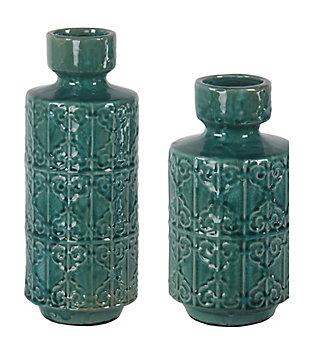 Privilege Ceramic Vase (Set of 2), , large