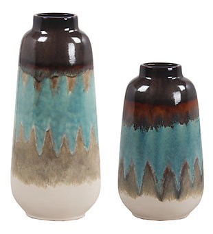 Privilege Ceramic Artisan Vase (Set of 2), , rollover
