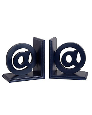Privilege Ampersand Wooden Bookends, , large
