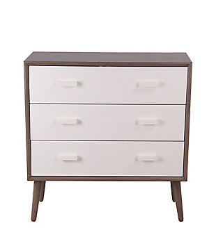 Privilege Mid-Century 3 Drawer Accent Stand, , large